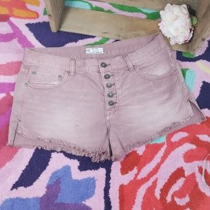 Free People Anthropologie colores denim shorts 29